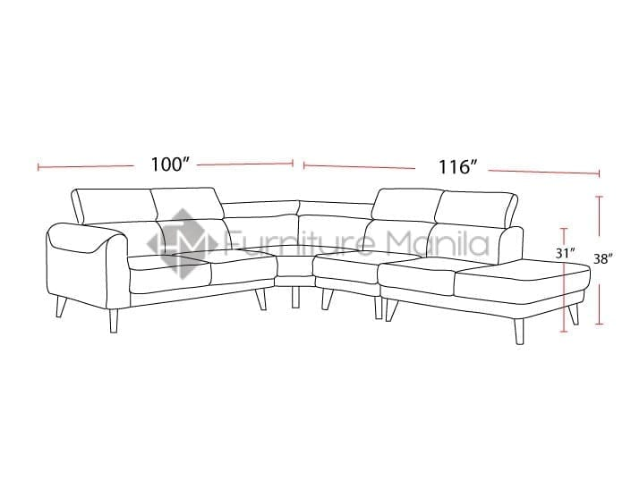 sophia-sectional-sofa-dimension | Home & Office Furniture ...