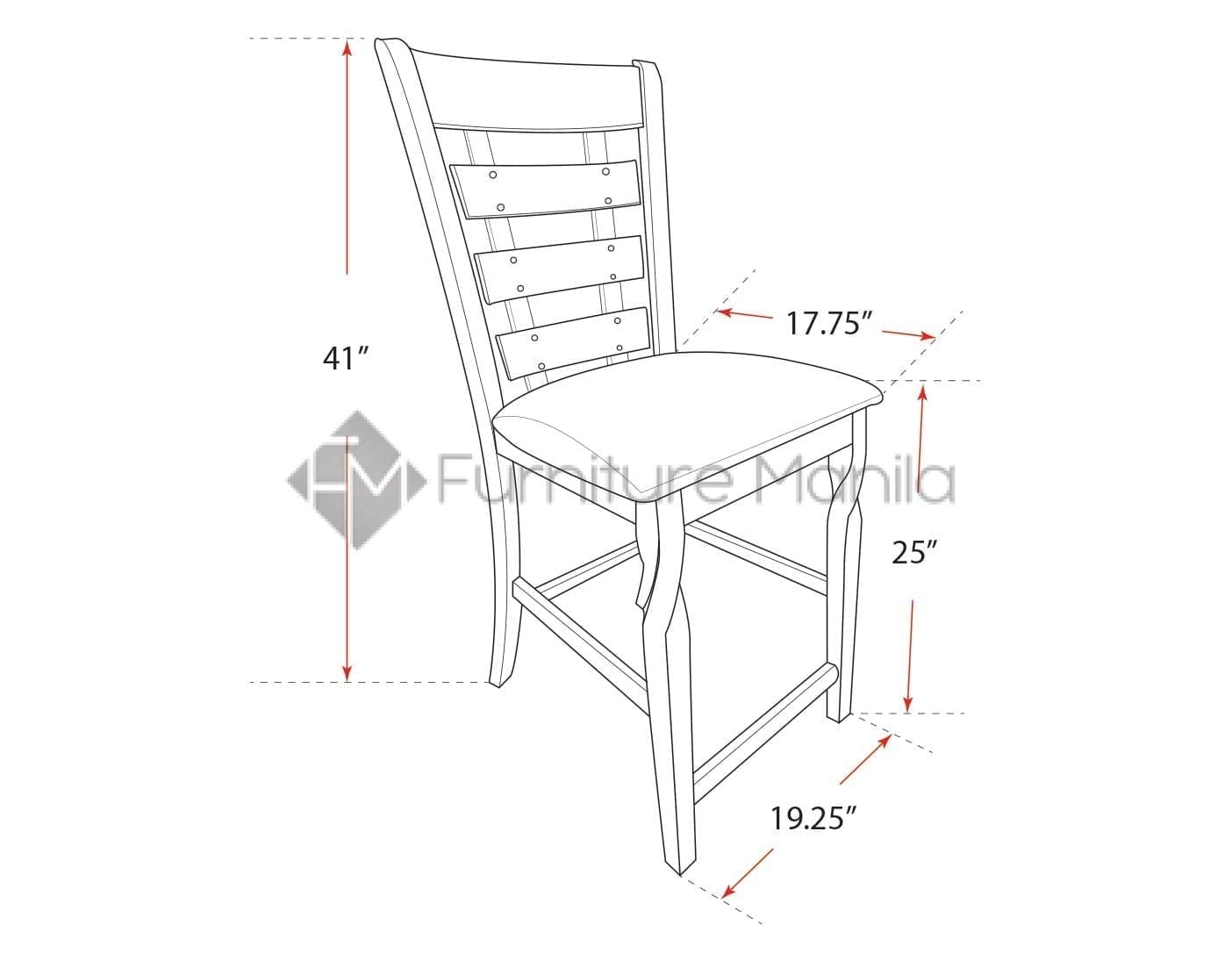 Picture of: Beatrice Counter Height Dining Chair Dimension Furniture Manila