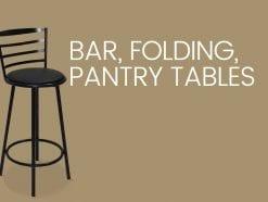 Bar, Folding, Pantry Tables