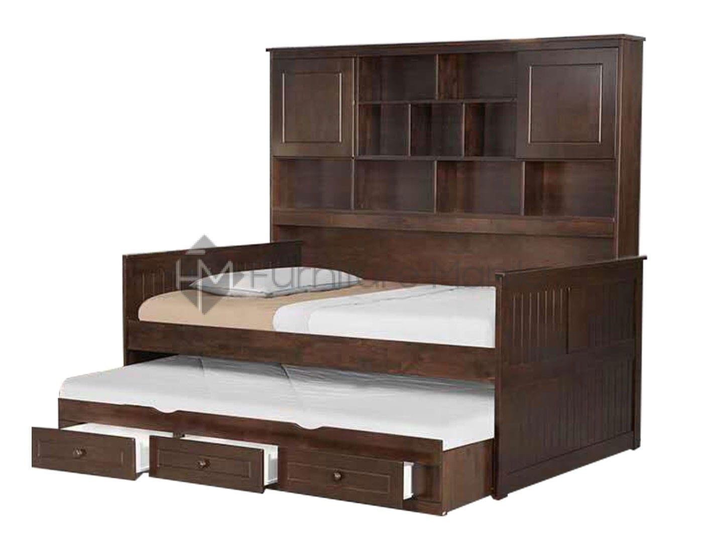Yana Bookcase Bed With Trundle Furniture Manila
